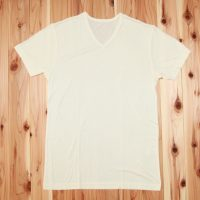 金伴 紳士絹V首半袖シャツ<br>¥7,128 (税込)